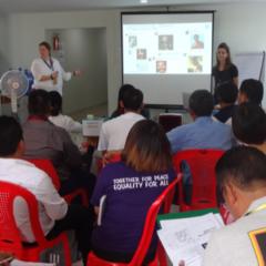 Loeki en Bianca trainen in Myanmar